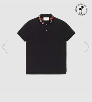 Gucci Cotton Polo with Kingsnake Embroidery for Sale in Riverside, CA