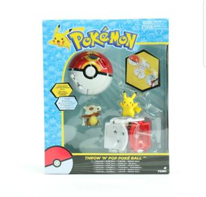 Tomy Pokemon Throw 'N' Pop Duel Pikachu Pokeball  Cubone Repeat Ball Figure Set for Sale in Las Vegas, NV