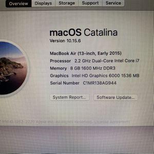i7 MacBook Air for Sale in San Gabriel, CA