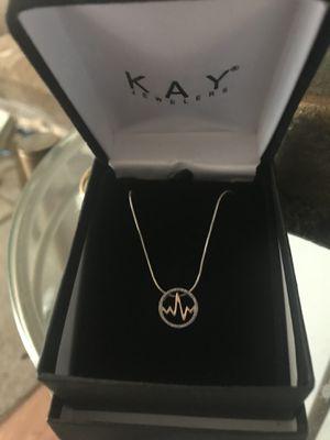 Kay's diamond heartbeat pendant for Sale in Warren, MI