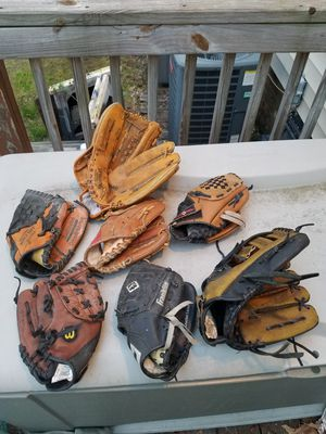 Set of Little league baseball gloves. for Sale in Richmond, VA