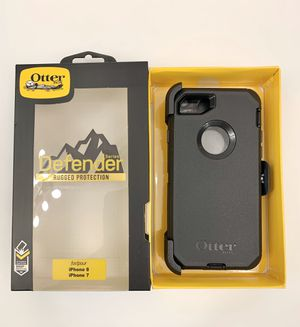 OtterBox Case for iPhone 7 & 8. Screen. Belt Clip/Holster. Black. for Sale in Los Angeles, CA