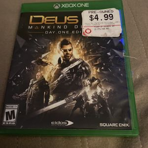 Deus Ex Mankind Divided Xbox One for Sale in Manteca, CA