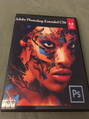 Adobe Photoshop CS6 Extended for Windows, DVD disc installation for Sale in San Clemente, CA