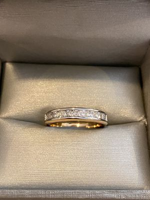 18K Gold plated Ring - PriNce cut diamond for Sale in Columbus, OH