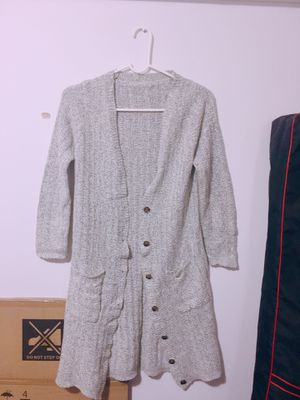 Gray button-up cardigan for Sale in Queens, NY