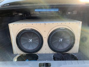 """Custom subwoofer box 2 12"""" subs for Sale in Tulare, CA"""