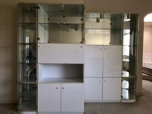 Four unit curio cabinets for Sale in Elk Grove, CA