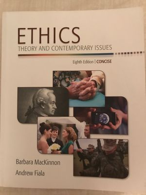 Ethics Theory and Contemporary Issues 8th edition Barbara MacKinnon Andrew Fiala for Sale in Orlando, FL