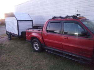 Ford sport Trac 02 project truck runs with trailer project trailer for Sale in Fort Worth, TX