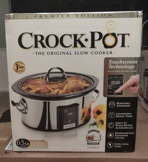 Crock-Pot 6.5 Quart Premier Edition Slow Cooker for Sale in Campbell, CA