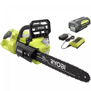 RYOBI Cordless Chainsaw 14 in. 40-Volt Lithium-Ion Battery Charger Brushless for Sale in St. Petersburg, FL