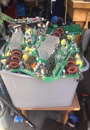 Big tub and box of various circuit boards and parts for Sale in Thornton, CO