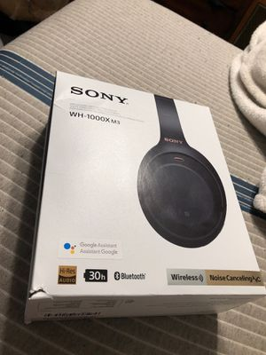 Sony WH-1000X M3 ANC Bluetooth Headphones for Sale in Florence, AZ