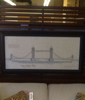 """London Bridge Framed Print: 24"""" by 43"""" for Sale in Chicago, IL"""