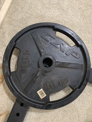 Set of 45 Pound weight 2 inch plates for Sale in Alexandria, VA