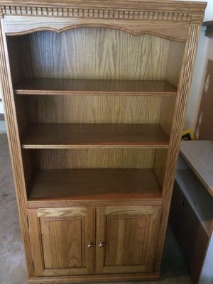 Bookshelf. Three shelves and top ledge. Storage below. Excellent condition. Pickup in Herndon for Sale in Sterling, VA