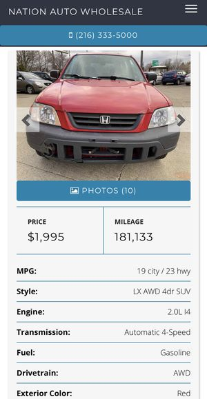 2001 Honda C-RV for Sale in Cleveland, OH