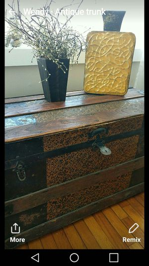 Antique trunk for Sale in Sudbury, MA