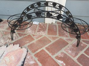 Three Plant Pot Metal Stand for Sale in Huntington Beach, CA