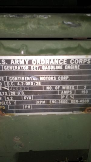 It's a big gas powered military generator for Sale in Oklahoma City, OK