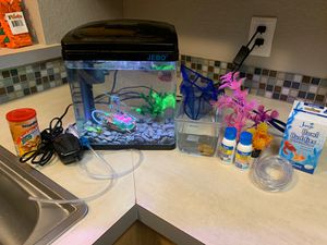 Fish Tank and Snail + Accessories for Sale in Santa Ana, CA