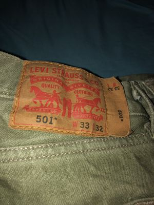 Levi Strauss 501 light green jeans 33x32 for Sale in Portland, OR