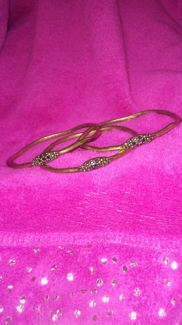 3 Bangles With Crystals