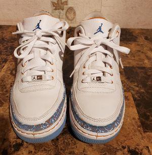 Nike Air Jordan 3 Retro White University Blue Sunset 2008 323947-141 7Y AF1 for Sale in Florissant, MO