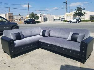 NEW 7X9FT CHARCOAL MICROFIBER COMBO SECTIONAL COUCHES for Sale in Los Angeles, CA