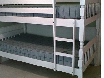 (New In Boxes) Twin/Twin Bunk Bed With Mattresses for Sale in Chamblee,  GA