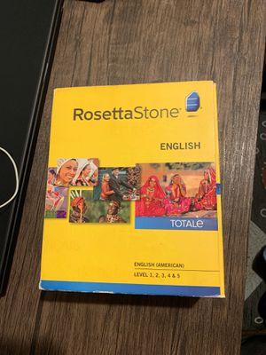 Rosetta Stone English for Sale in Cicero, IL