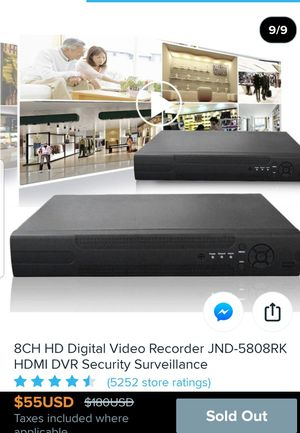 DIGITAL VIDEO RECORDER, 8 CHANNELS, for Sale in San Dimas, CA
