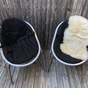 Mid Century Retro Bucket Metal Chairs (2) for Sale in New York, NY