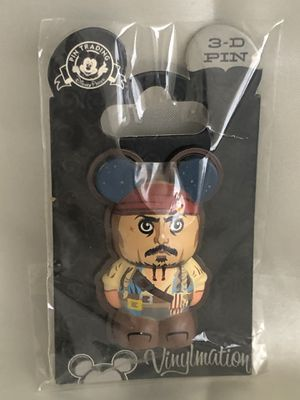 Disney Pin Vinylmation 3D Pirates of the Caribbean Jack Sparrow for Sale in Long Beach, CA