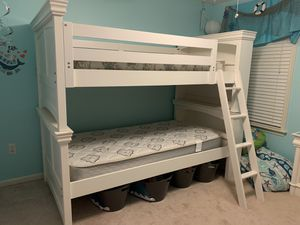 Twin white bunk beds for Sale in Warrenton, VA