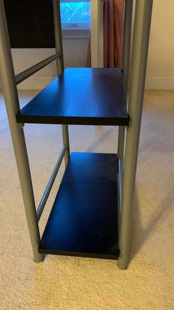 Obsidian Black Office Table (Good Condition)
