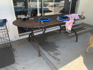 Iron & Zinc Table for Sale in Tustin, CA