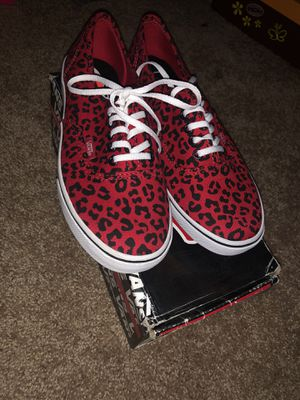 Black and red vans. Size 7 for Sale in Houston, TX