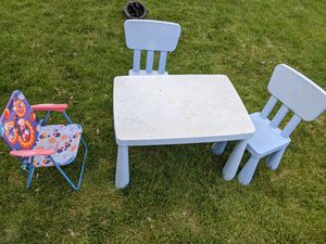 Kid table and chairs for Sale in West Jordan, UT