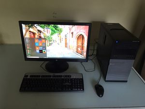 """Core i5 Desktop Computer w/ Large 24"""" Monitor for Sale in Streamwood, IL"""