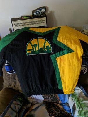 Seattle SuperSonics parka jacket size medium for Sale in Mount Vernon, WA