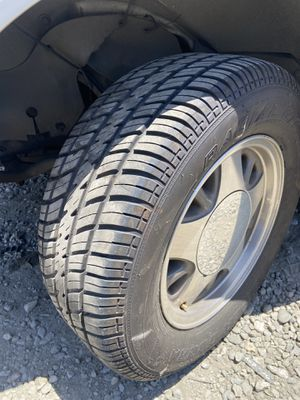 5 lug Chevy rims with brand new radial cobra tires c10 Silverado obs for Sale in West Covina, CA