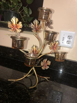Floral Candle holder Decor for Sale in Laurel, MD