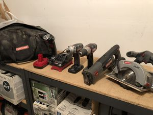 Craftsman Power Tools + Extras (Like New) for Sale in Puyallup, WA