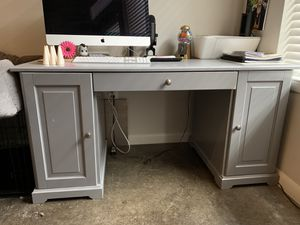 Large Grey Desk for Sale in Houston, TX