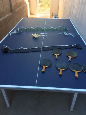 Ping pong table with equipment . Location is Ahwatukee for the table for Sale in Pinetop, AZ