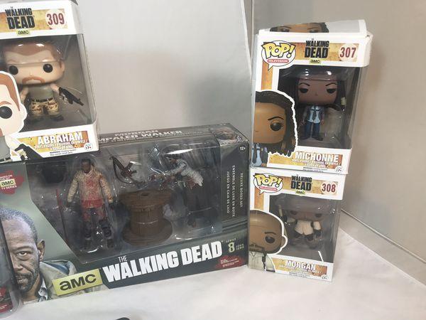 Funko Pop Mcfarlane Toys The Walking Dead Figure Lot