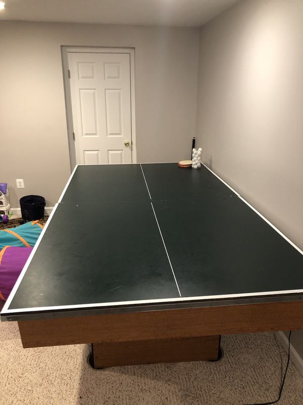 2-1 ping pong and pool table