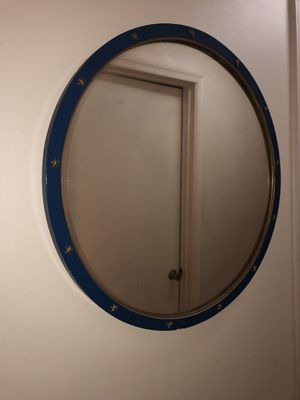 Large circle wall mirror with stars for Sale in Durham, NC